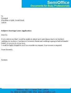 Application letter for low attendance in college